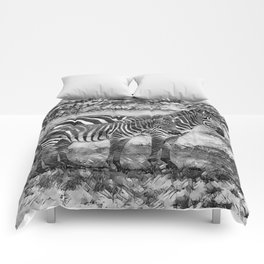 AnimalArtBW_Zebra_20170716_by_JAMColorsSpecial Comforters