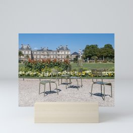 Chairs in Luxembourg Gardens - Paris Mini Art Print