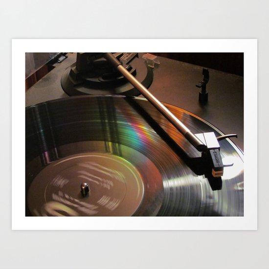 Vinyl Rainbow Art Print