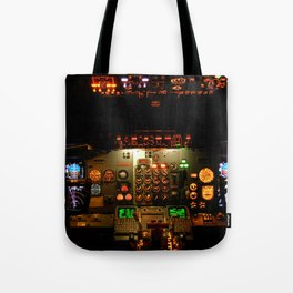 Airliner Flight Deck Tote Bag