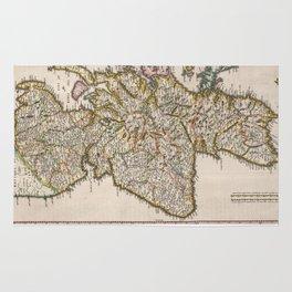 Vintage Map of Scotland (1654) Rug