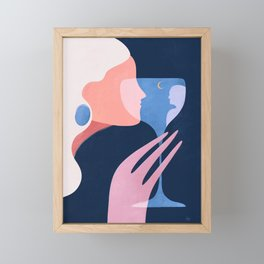 A memorable date  Framed Mini Art Print