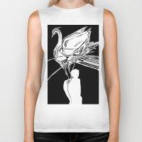 black swan Biker Tanks featuring Swan by Mariia Krugliakova