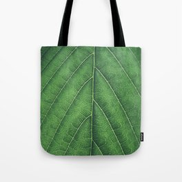 Green leaf background Tote Bag