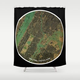 New York and Groucho Marx funny quote, gift for NY lovers and writers Shower Curtain