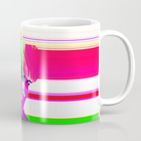 holographic Mugs featuring future holographic lover by Robert Alan