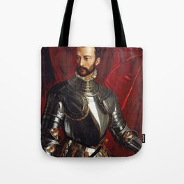 Lorenzo Medici in Gothic Armor Tote Bag