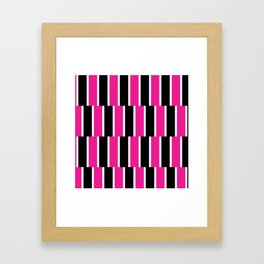 Shifted Illusions - Black and Pink Framed Art Print