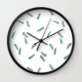 dark green ferns Wall Clock