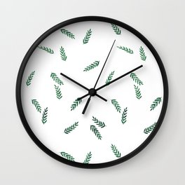 dark green ferns Wall Clock