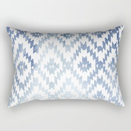 Indigo Ikat Print 3 Rectangular Pillow
