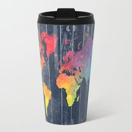 world map 97 colors blue #worldmap #map Travel Mug
