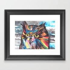 Whimsical Owl  Framed Art Print