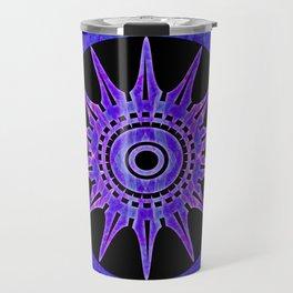 Starlit Purple Nights Abstract Mandala Artwork Travel Mug