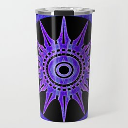 Starlit Purple Nights Abstract Mandala Artwork Travel Mug