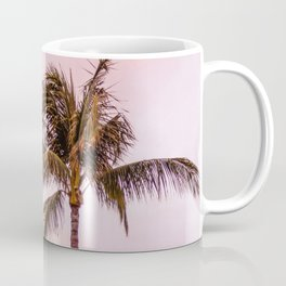 Palm Tree Photography Landscape Sunset Unicorn Clouds Blush Millennial Pink Coffee Mug
