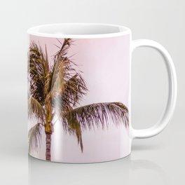 Palm Tree Photography | Landscape | Sunset Unicorn Clouds | Blush Millennial Pink Coffee Mug