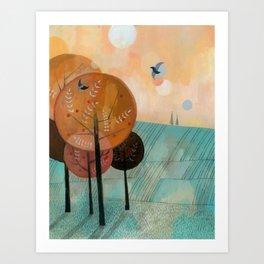 Trees & Birds Art Print