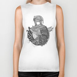 Out of Place - Elephant Biker Tank