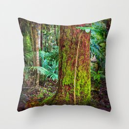 New and old rainforest growth Throw Pillow