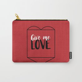 Give Me Love Red Heart Carry-All Pouch