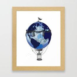 worldballoon Framed Art Print