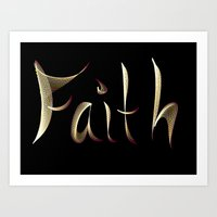 faith Art Prints featuring Faith by Tina Vaughn