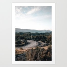 road to Cerro chapelco Art Print