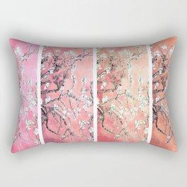 Vincent Van Gogh Almond Blossoms Panel Pink Peach Rectangular Pillow