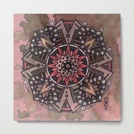 Primrose Mandala Metal Print