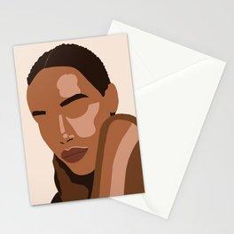 Black woman art, Black Woman Illustration, Female Portrait Print, Modern art, Black Girl Wall Art,African woman Art,African american Stationery Cards