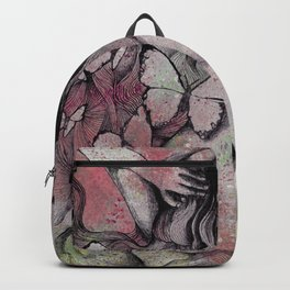 Sugar Coated Sour: Pomegranate (nude curvy pin up with butterflies) Backpack
