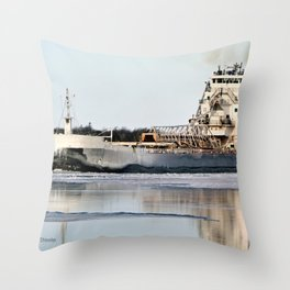 Great Republic Freighter Throw Pillow