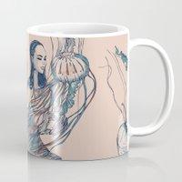jellyfish Mugs featuring Jellyfish by Huebucket