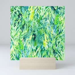 Jungle green watercolor Mini Art Print