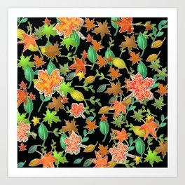 Herbstlaub colorful Art Print