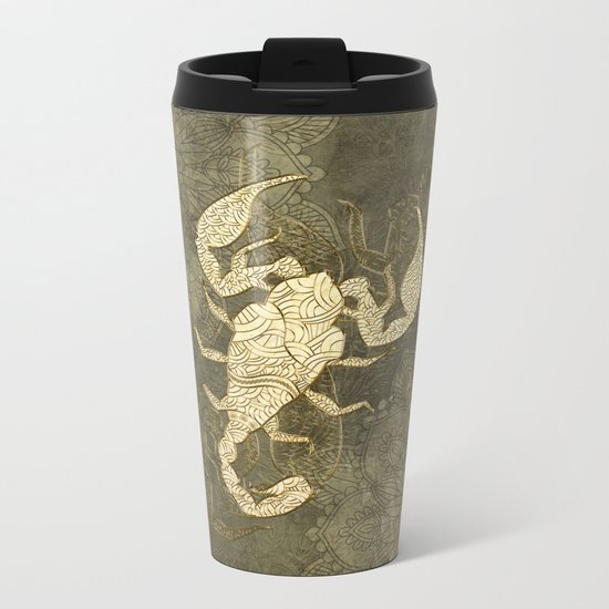 Beautiful scorpion mandala Metal Travel Mug