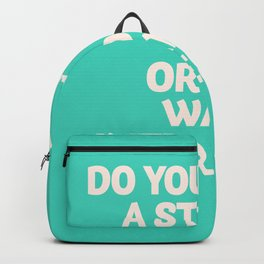 Inspirational question, do you want an interesting path? motivational life quote, leave comfort zone Backpack
