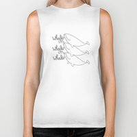 whales Biker Tanks featuring Whales! by Daniel Kim