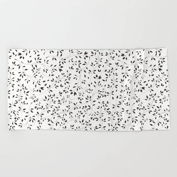 Delicate flora 001 Beach Towel