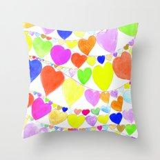 garlands of hearts  Throw Pillow