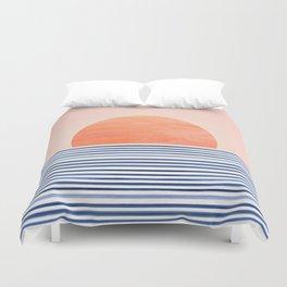Summer Sunrise - Minimal Abstract Duvet Cover