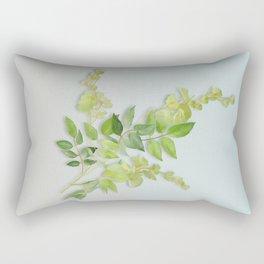 Yellow Tiny Flowers Rectangular Pillow