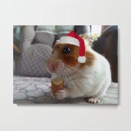 Christmas Hamster Metal Print