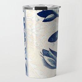 Blue Oriental Vintage Tile 03 Travel Mug
