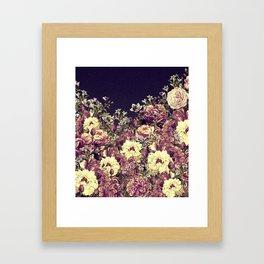 Vintage Garden 6 (Roses & Lavenders) Framed Art Print