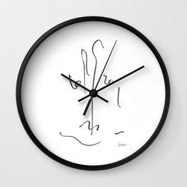 Demeter Moji d24 4-2 w Wall Clock