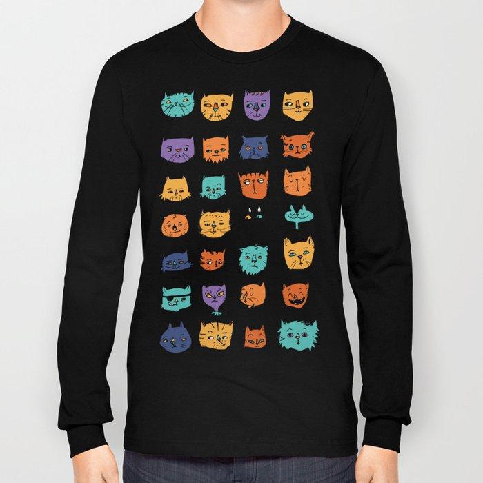 Stylish Cats Long Sleeve T-shirt