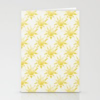 sunshine Stationery Cards featuring Sunshine by Leah Flores