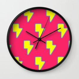 Lightning Logo Print Wall Clock
